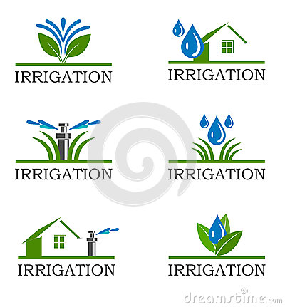 Irrigation Stock Illustrations.