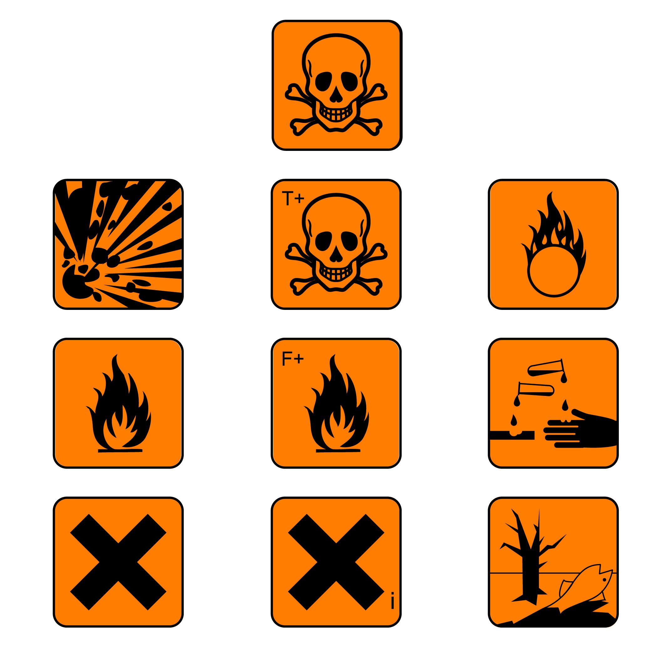 New Hazard Signs Irritant.