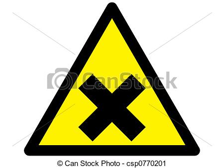 Harmful irritant irritation symbol icon chemical hazard Clip Art.