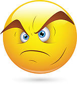 Clip Art of Irritated Man k15580189.