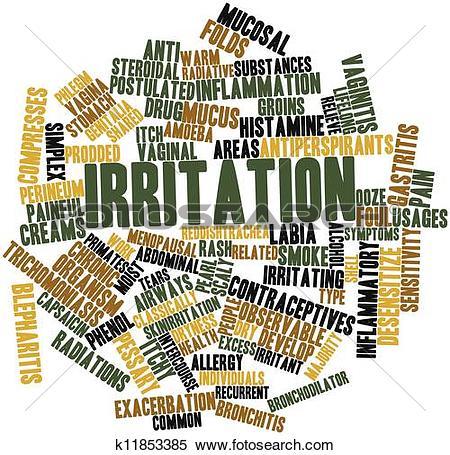 Stock Illustration of Word cloud for Irritation k11853385.