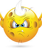 Clipart of Irritated Smiley Face k13041493.