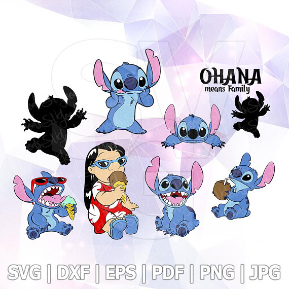 Lilo Stitch SVG File Design DXF Vector Format Cricut Iron on.