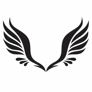 angel wings clipart vector file.