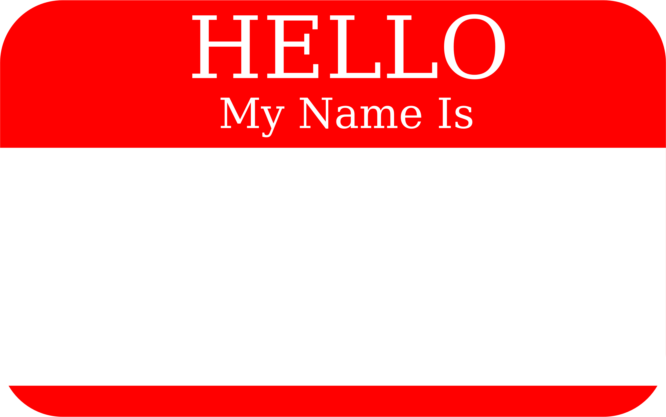 My Name Is Clip Art.