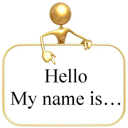 O My Name Is Clipart.