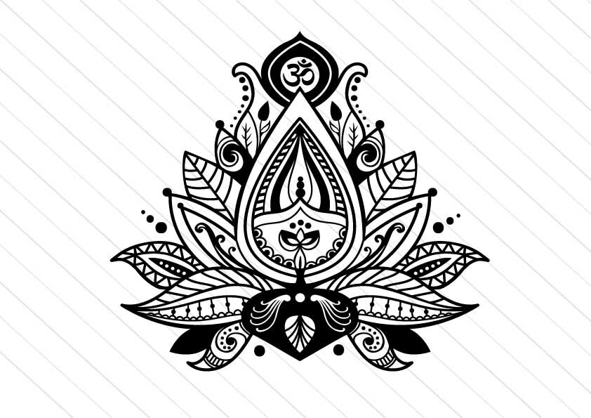 Lotus flower svg vector clipart, yoga svg cut file By Betta.