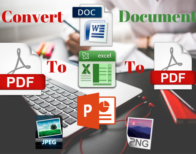 PDF to Word, Excel, Power point, JPEG, JPG, PNG.