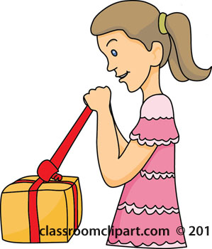 Opening Package Clip Art.