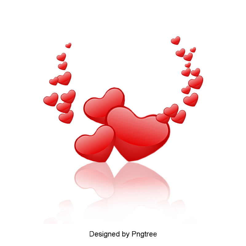 Red Hearts, Festive, Love PNG and Vector with Transparent Background.