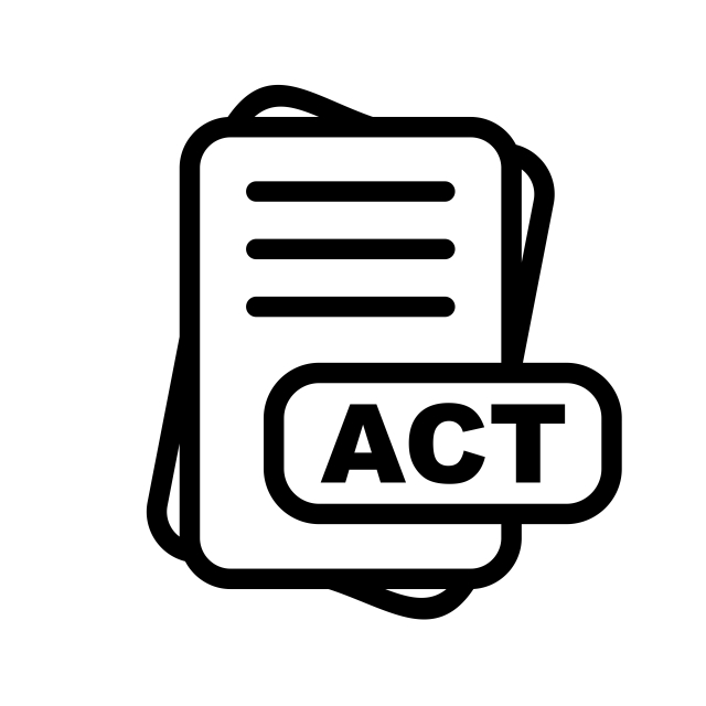 Act File Format Icon, File, Format PNG and Vector with Transparent.