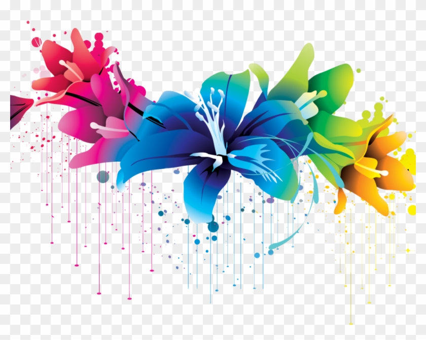 Flowers Vector Art Colorful Wallpaper.