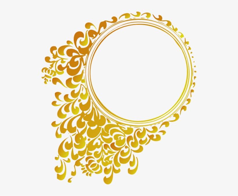 Gold Frame Png Vector.
