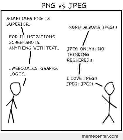 PNG vs. JPEG by ben.