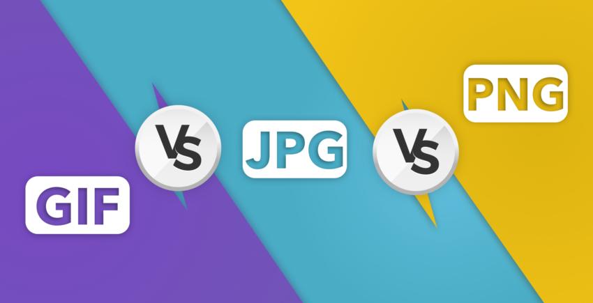 GIF vs JPG vs PNG.
