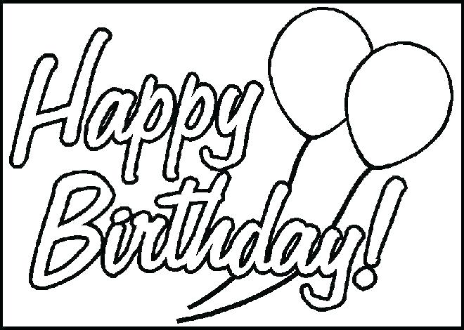 Happy Birthday Coloring Pages 2019 Happy Birthday Images.