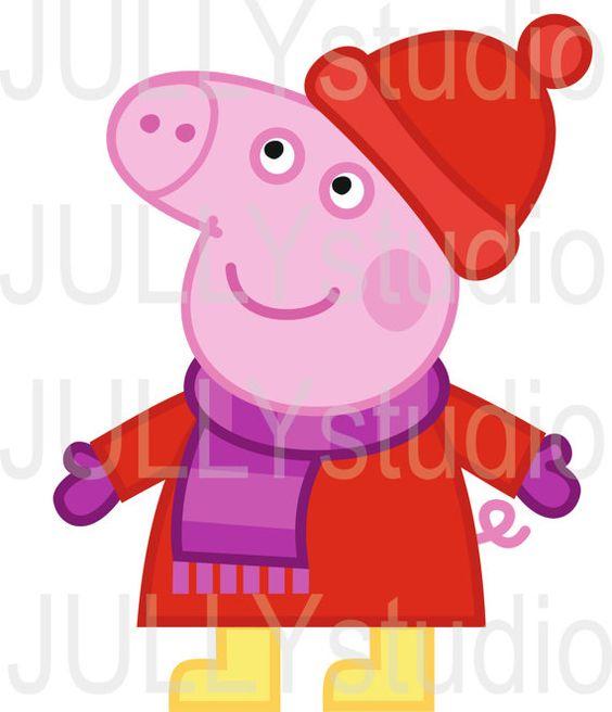 Digital ClipArt Peppa Pig / ClipArt digitali George di JULLYstudio.