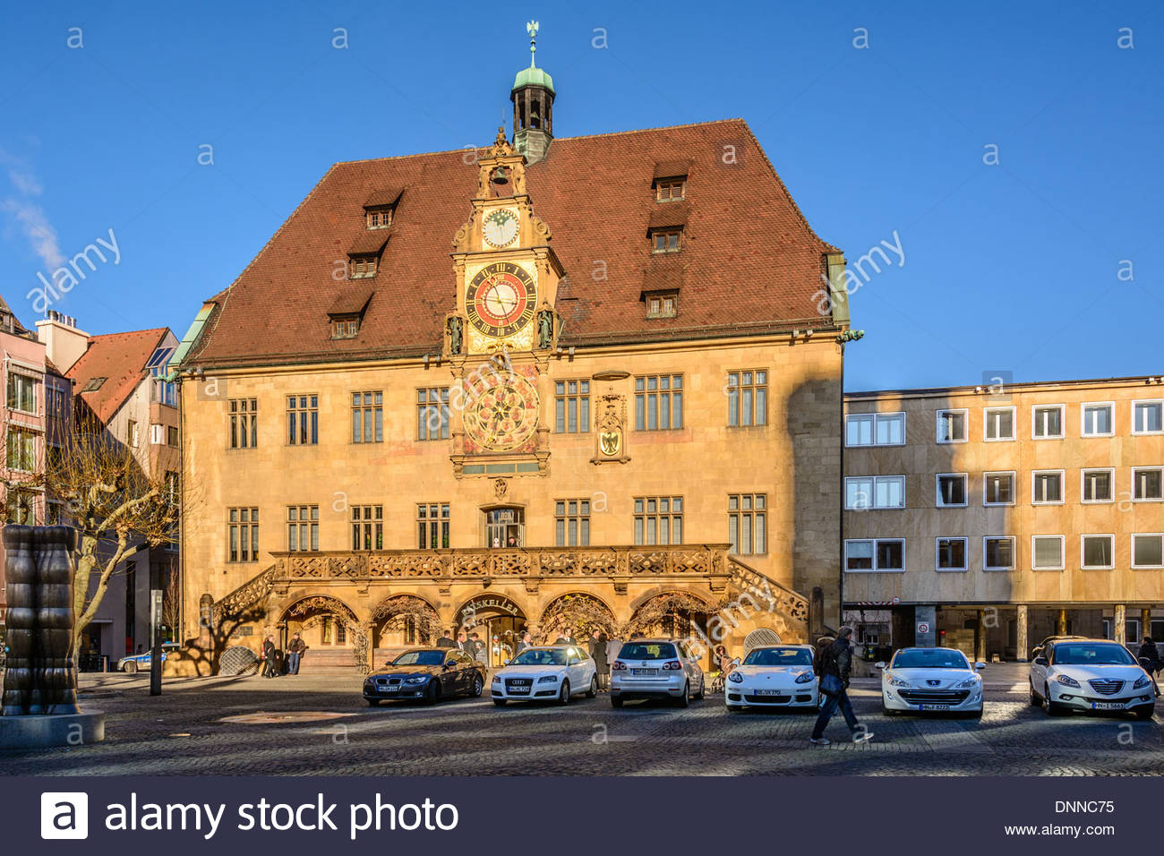 Historical Townhall With Astronomical Clock By Isaak Habrecht.