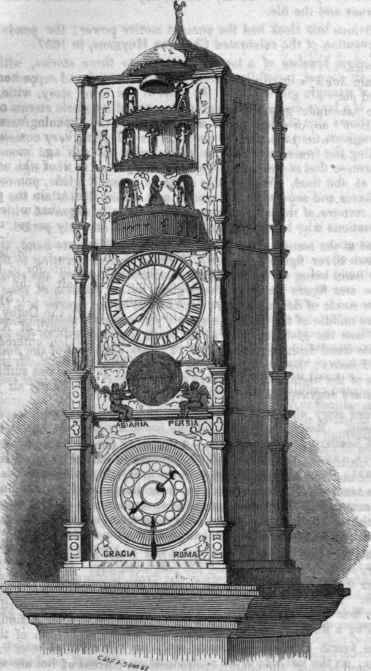 A Curious Clock By Isaac Habrecht, Anno 1589.