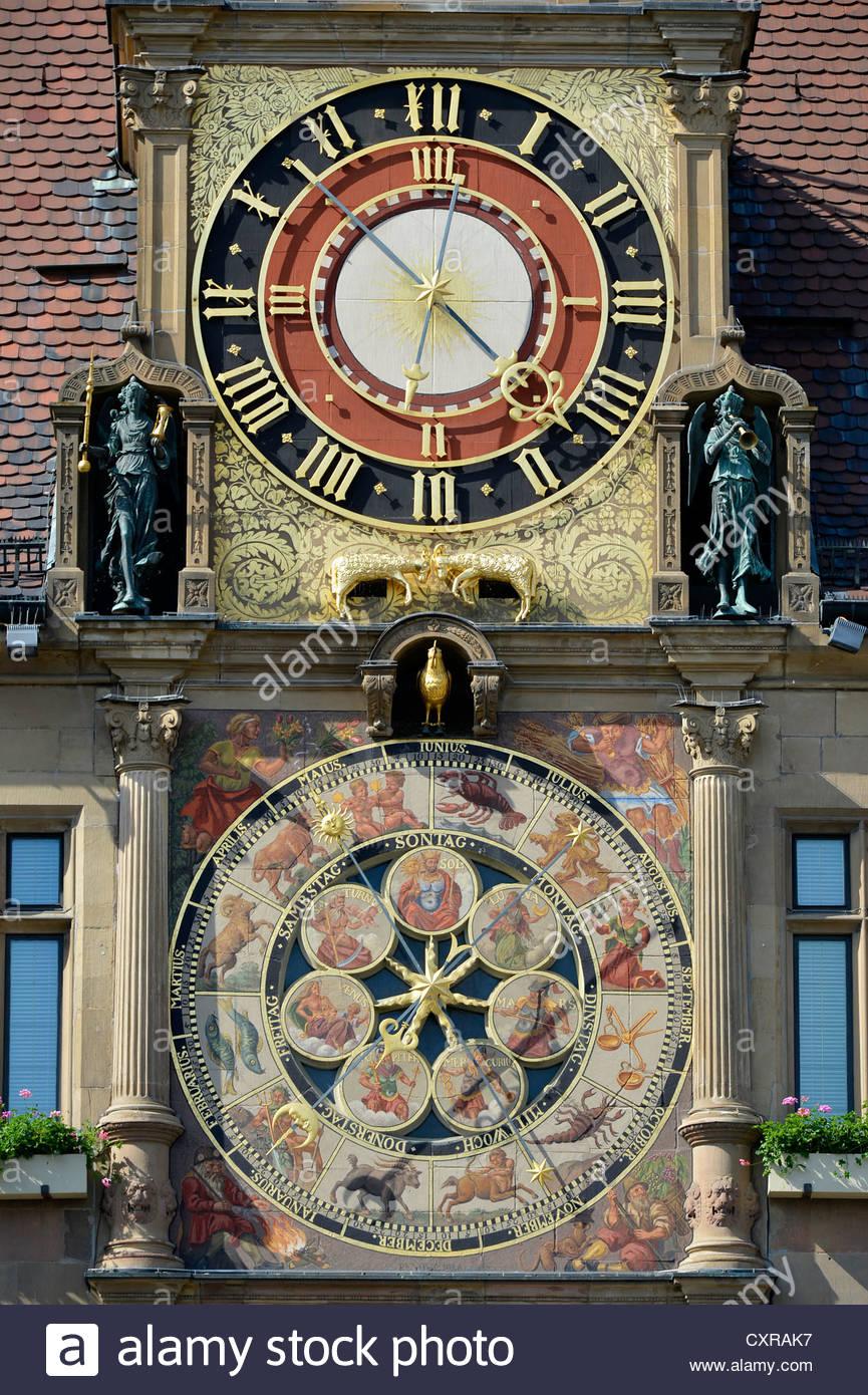 Astronomical Clock By Isaac Habrecht, Heilbronn Town Hall.