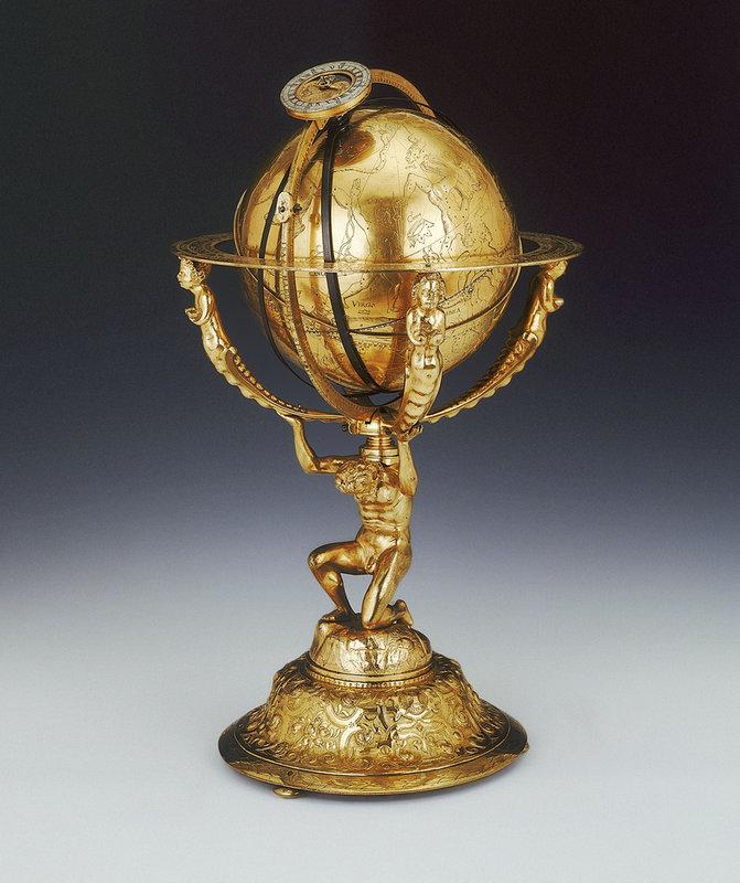 Celestial clockwork globe.