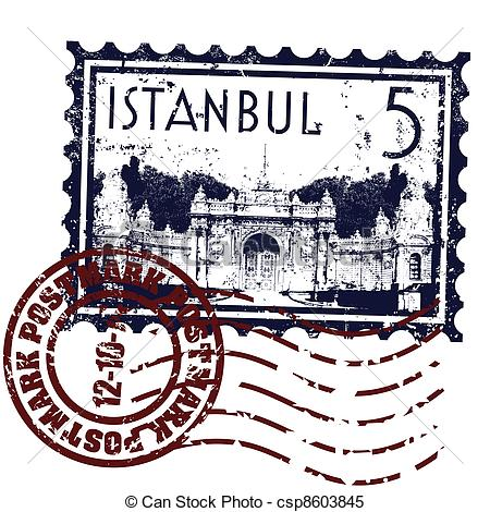Clipart Vector of Vector illustration of single isolated Istanbul.