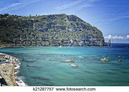 Picture of View of Citara beach in Ischia Island k21287757.