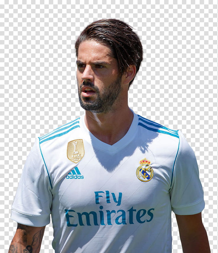 Isco Alarcon Real Madrid Render transparent background PNG.
