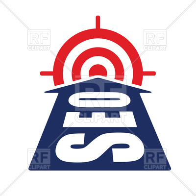 Arrow with seo word reach target Vector Image #119184.
