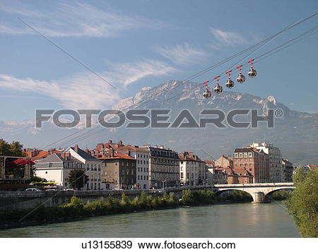 Stock Photograph of France, Grenoble, Isere, Rhone.