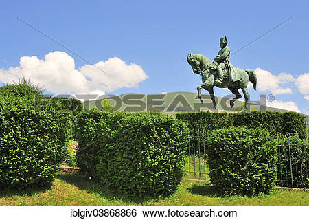 """Stock Images of """"Equestrian statue of Napoleon on the Prairie de."""