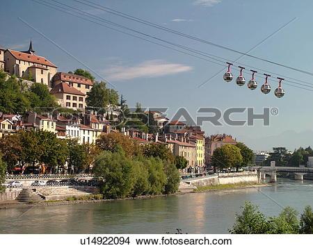 Stock Photo of France, Grenoble, Isere, Rhone.
