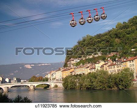 Stock Image of France, Grenoble, Isere, Rhone.