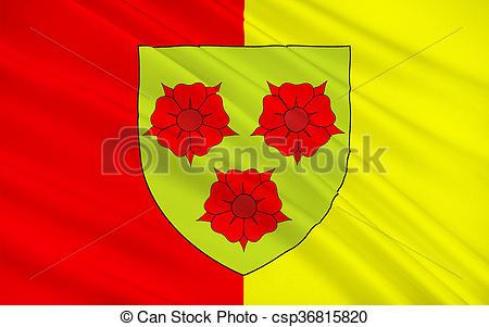 Clip Art of Flag of Grenoble, France.