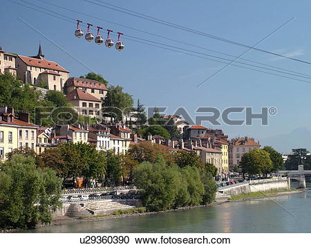 Stock Photography of France, Grenoble, Isere, Rhone.
