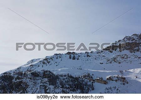 Stock Photography of Mountain scenery, Val d'Isere, France.