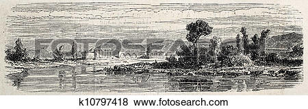 Stock Illustration of View of Isfahan k10797418.