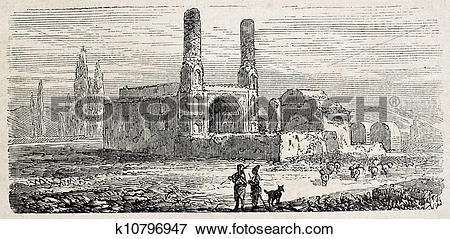 Stock Illustration of Mosque in Isfahan k10796947.