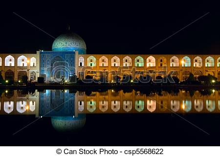 Stock Photo of Imam Square at night, Isfahan, Iran csp5568622.