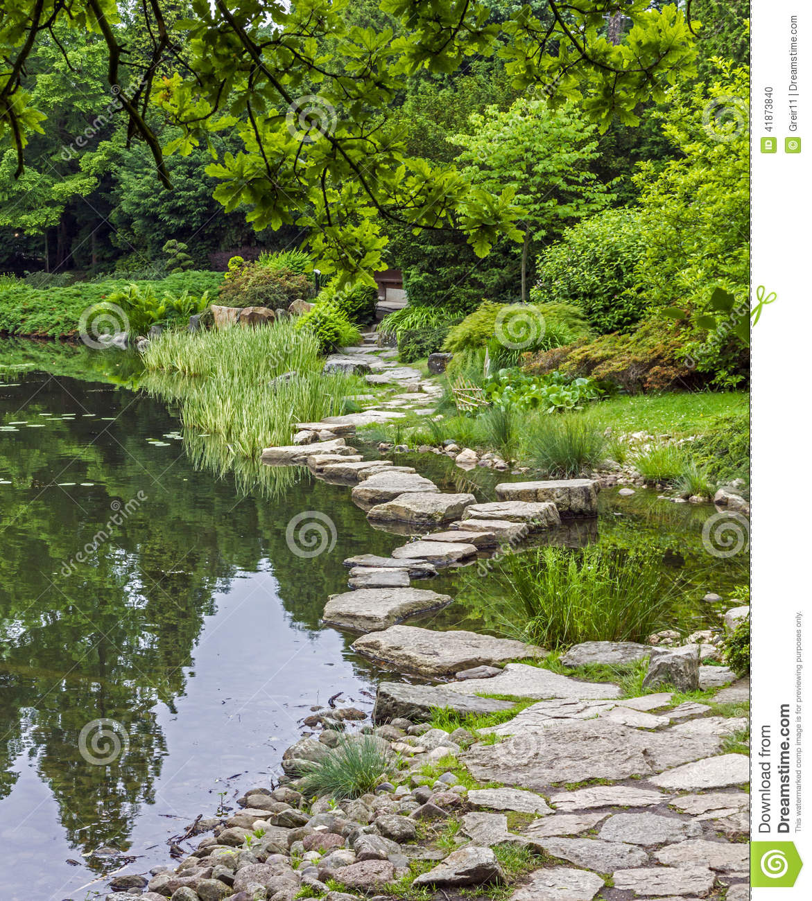 Stone Path Across Water.