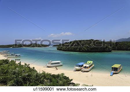 Stock Photography of Kabira Bay, Ishigaki, Okinawa, Japan.