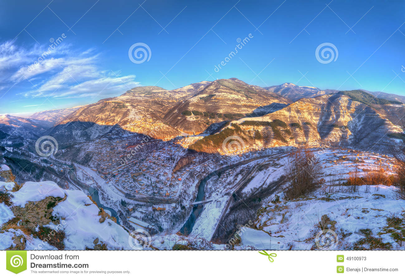 Iskar Gorge And Bov, Bulgaria Stock Photo.
