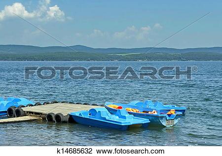 Stock Photo of Iskar dam at Iskar river k14685632.