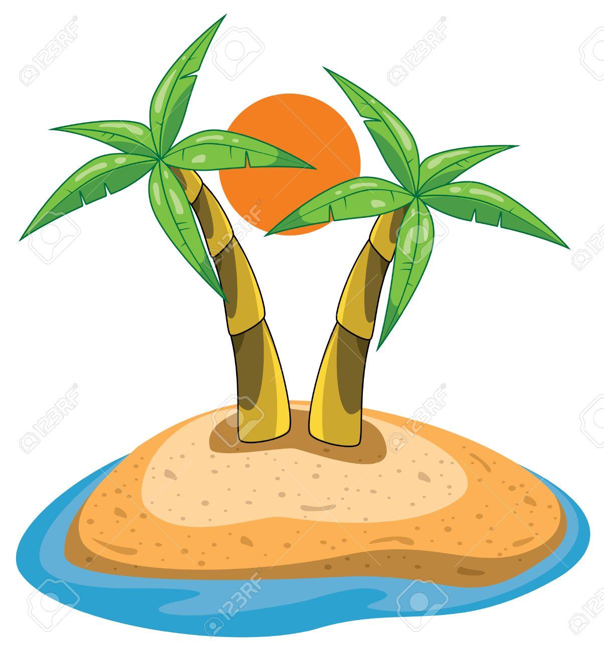 palms on island clip.