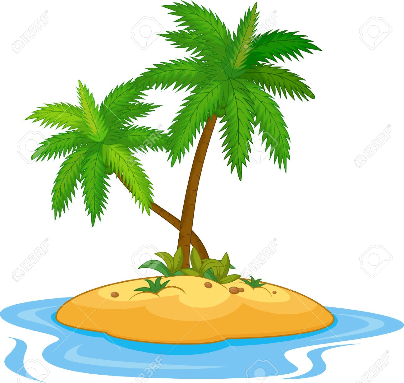 Tropical island cartoon.