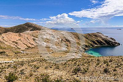 View Of Isla De Santa Clara Through The Railing On Playa De La.