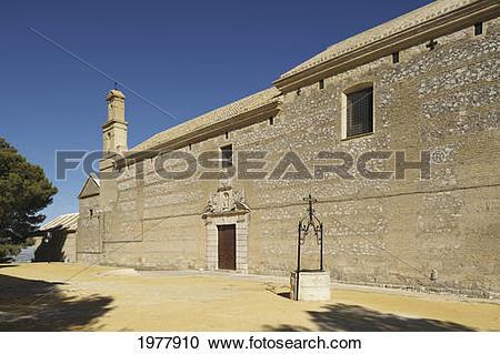 Stock Photography of iglesia de santa clara; estepa sevilla.