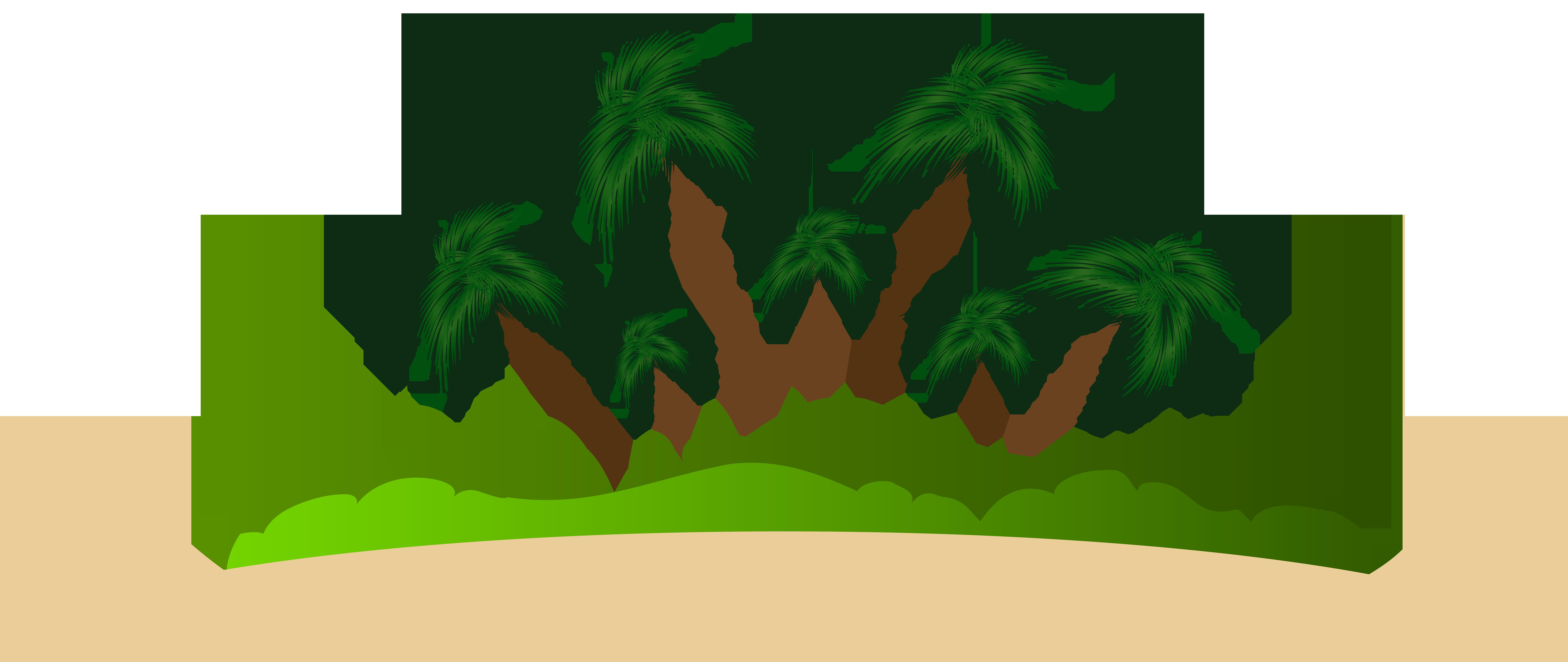 Palm Island PNG Clip Art Image.