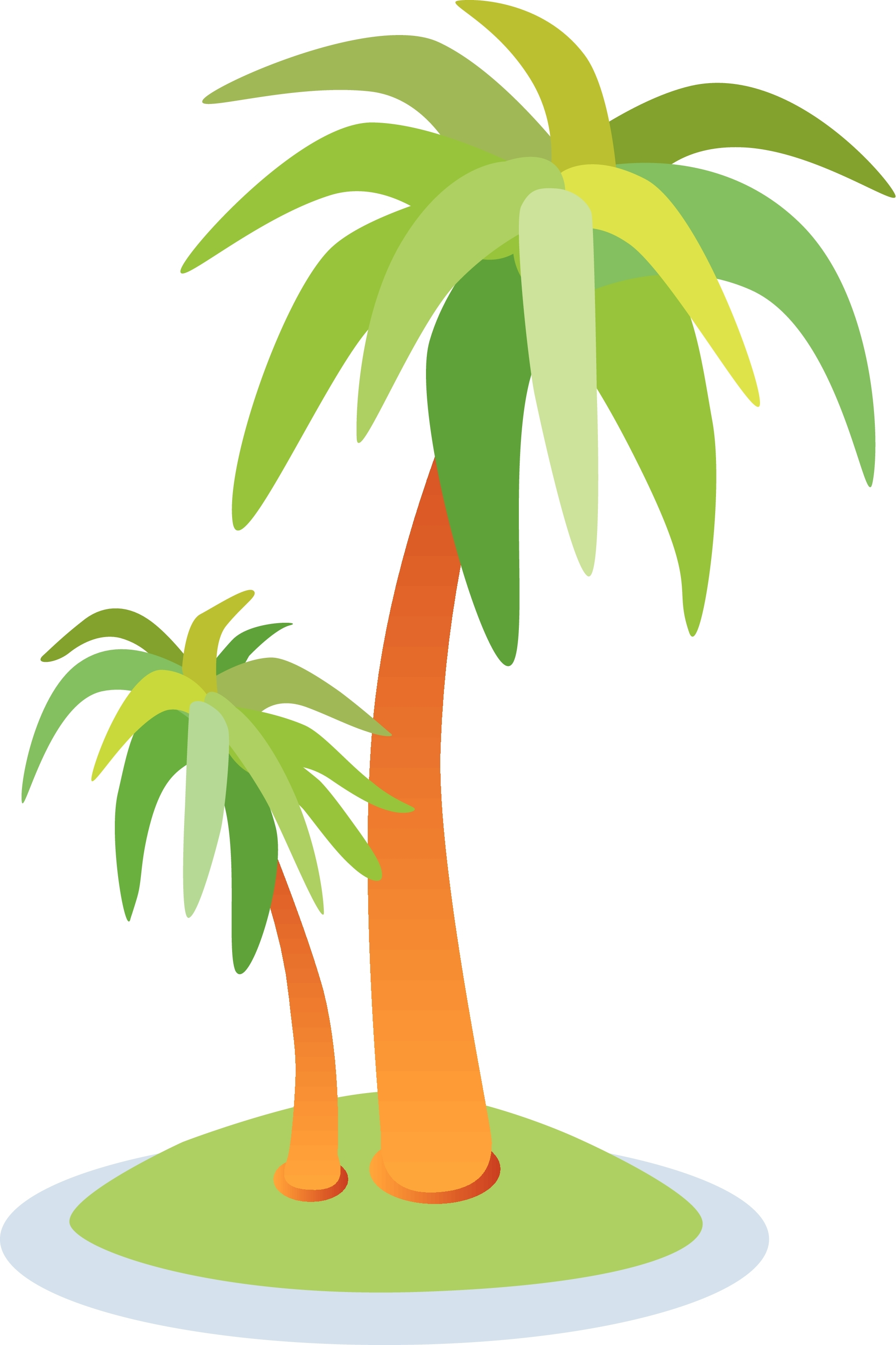 Clipart Picture Of Island With Tree And House.
