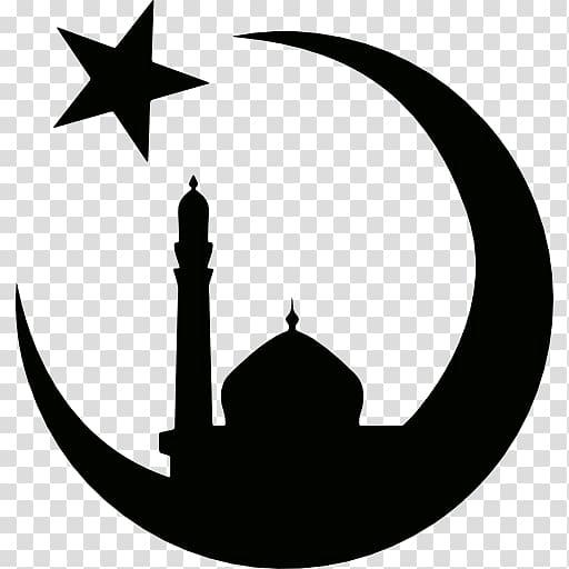 Moon and star logo, Quran Symbols of Islam Religious symbol.